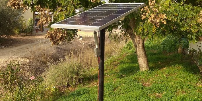 LoriSense Basic Single Axis Solar Tracker - Pole Mount